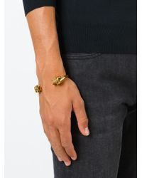 Alexander McQueen | Metallic Double Skull Bangle for Men | Lyst