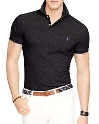 Ralph Lauren - Black Polo Slim-fit Mesh Polo Shirt for Men - Lyst