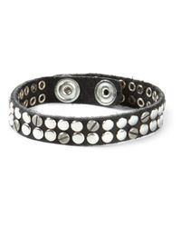 DIESEL | Black Studded Bracelet for Men | Lyst