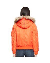 Polo Ralph Lauren - Orange Hooded Down Bomber Jacket - Lyst
