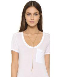 Madewell - Metallic Wishbone Lariat Necklace - Lyst