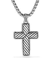 David Yurman - Metallic Exotic Stone Large Reversible Cross with Black Onyx On Chain 22 for Men - Lyst