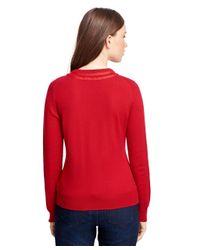 Brooks Brothers - Red Merino Wool Cardigan - Lyst