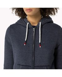 Tommy Hilfiger | Blue Cotton Blend Zip Through Hoody | Lyst