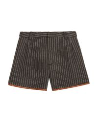 Jonathan Simkhai - Gray Pinstriped Neoprene Shorts - Lyst
