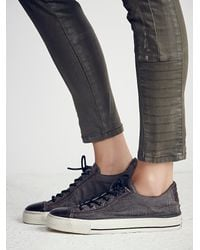 Free People | Green Converse X John Varvatos Womens John Varvatos Coated Canvas Low Top Chucks | Lyst