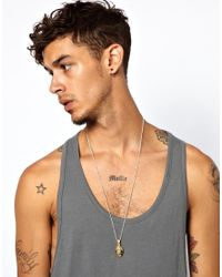 Love Bullets - Metallic Skool Of Jenius By Lovebullets Oval Necklace Exclusive To Asos for Men - Lyst