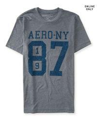 Aéropostale | Gray Aero-ny 87 Logo Graphic T | Lyst
