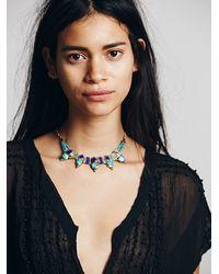 Free People - Metallic Free Bird Necklace - Lyst