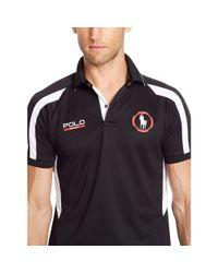 Ralph Lauren - Black Micro-dot Polo Shirt for Men - Lyst