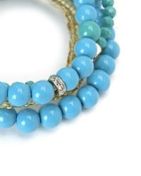 Juicy Couture | Blue Beaded Stretch Bracelet Set | Lyst