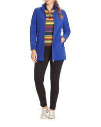 Lauren by Ralph Lauren | Blue Plus Fleece Jacket | Lyst
