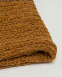 Zara | Yellow Basic Knit Snood | Lyst