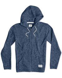 Quiksilver | Blue Keller Full-zip Hooded Sweatshirt for Men | Lyst