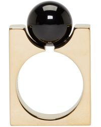 Chloé | Metallic Gold Square Darcey Ring | Lyst