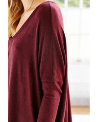 Silence + Noise - Purple Felicity V-neck Top - Lyst
