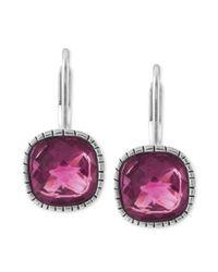 The Sak - Pink Silvertone Fuchsia Stone Leverback Drop Earrings - Lyst