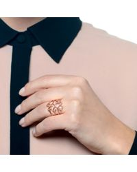 Lulu Frost - Metallic Code Number 14kt Rose Gold #0 Ring - Lyst