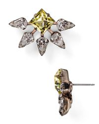 DANNIJO - Metallic Fleur Crystal Jonquil Stud Earrings - Lyst