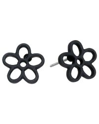 Marc By Marc Jacobs | Black Rubberized Daisy Studs Earrings | Lyst