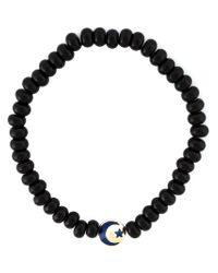 Luis Morais - Black Crescent Mantra Amulet Bracelet - Lyst
