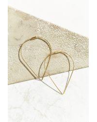 Urban Outfitters | Metallic 18k + Sterling Silver Delicate Geo Hoop Earring | Lyst