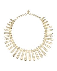 Kendra Scott | Metallic Jill Gold-plated Statement Bib Necklace for Men | Lyst