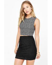 Kimchi Blue | Black Scallop Lace Mini Skirt | Lyst