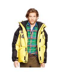 Ralph Lauren - Yellow Water-resistant Down Parka for Men - Lyst