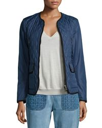 Belstaff - Blue Quilted Shell Jacket - Lyst
