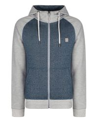 Bench | Blue Pernarth Plain Zip-thru Hoodie for Men | Lyst