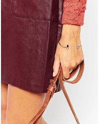 ASOS - Metallic Bar And Circle Open Cuff Bracelet - Lyst