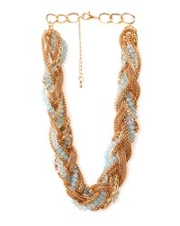 Forever 21 - Blue Be Seen Braided Necklace - Lyst