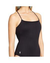 Polo Ralph Lauren - Black Lace-up One-piece - Lyst