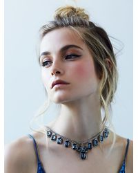 Free People | Metallic Front To Back Necklace | Lyst