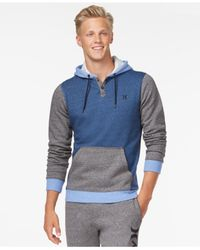 Hurley | Blue Getaway Fleece Hoodie for Men | Lyst