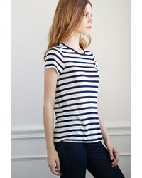 99a73cc8562b43 Forever 21. Women s White Striped Slub Knit Top You ve Been Added To The  Waitlist