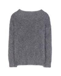 Burberry Brit - Gray Mohair-Blend Sweater - Lyst