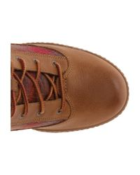 Timberland | Brown Glancy Fabric And Leather Hiker | Lyst