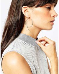 ASOS | Metallic Mismatch Open Circle Through Earrings | Lyst