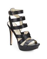 BCBGeneration | Black Mystic Leather Platform Sandals | Lyst