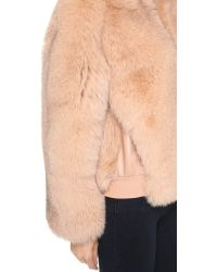 Cedric Charlier - Fur Coat - Pink - Lyst