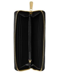 Michael Kors - Black Michael Fulton Zip Around Continental Wallet - Lyst