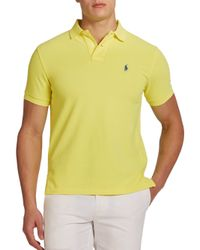 Polo Ralph Lauren | Yellow Slim-fit Mesh Polo for Men | Lyst