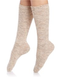 Free People | Natural Loyal Light Tall Socks | Lyst