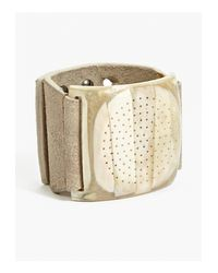 Rick Owens | Natural Men's Pearl/bone Detail Suede Cuff for Men | Lyst