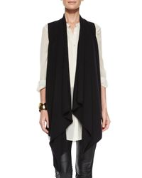 Eileen Fisher - Black Fisher Project Cascading Cashmere Vest - Lyst