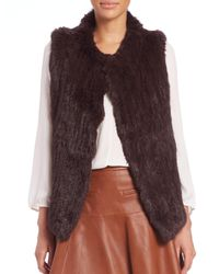 Joie | Red Andoni Rabbit Fur Vest | Lyst