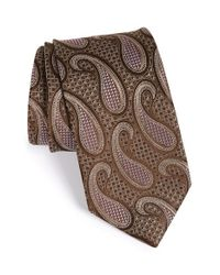John W. Nordstrom | Brown 'cortese' Paisley Silk Tie for Men | Lyst