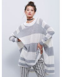 Free People | Natural Womens Lafayette Poncho | Lyst